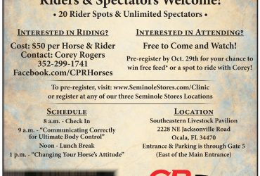 Corey Rogers Horsemen Clinic