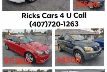 Ricks Cars 4 U on Sale!